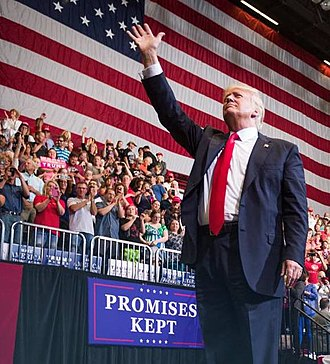 Donald Trump presidential campaign, 2020 - Trump in Iowa holding his fifth official rally of the campaign