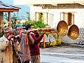 Trumpeters, Royal Palace, Sarahan, HiP, India.jpg