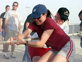 Game - Tug of war is an easily organized, impromptu game that requires little equipment.