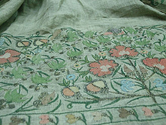 Izmir Ethnography Museum - A sample of the traditional embroidery on display at the museum.