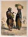 Two Egyptian peasants, the man smokes a pipe and the woman h Wellcome V0019291.jpg