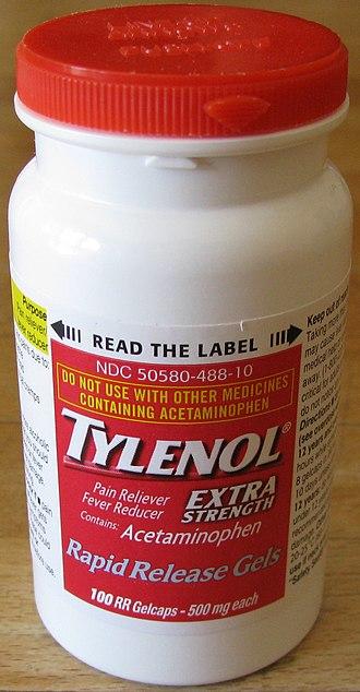 Chicago Tylenol murders - Tylenol bottle