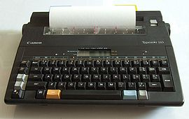 Electronic typewriter - the final stage in typewriter development. A 1989 Canon Typestar 110