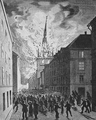 German church fire 1878