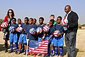 U-11 Bafokeng Football Academy Teams Playing for the U.S. Poses for a Photo With Press Attache Hudson-Dean.jpg