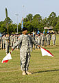 U.S. Soldiers use the traditional wigwag signal method to direct the troops, during Signal Center commanding general change of command ceremony, on Fort Gordon, Ga., July 21, 2010 100721-A-NF756-015.jpg