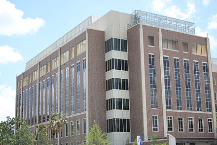 The University of Florida Cancer and Genetics Research Complex is an integrated medical research facility UF Cancer Genetics Complex.JPG