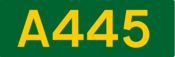 A445 road shield