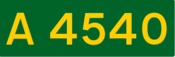A4540 road shield