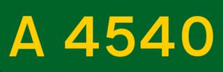 A4540 road ring road in Birmingham, England