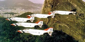 United States Air Force Thunderbirds - F-4Es in Thunderbird livery, about 1972.