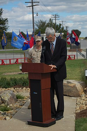 Mark Funkhouser - Mayor Funkhouser speaks at the Memorial Dedication ceremony Oct. 2, 2010