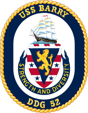 USS Barry (DDG-52) - Image: USS Barry DDG 52 Crest