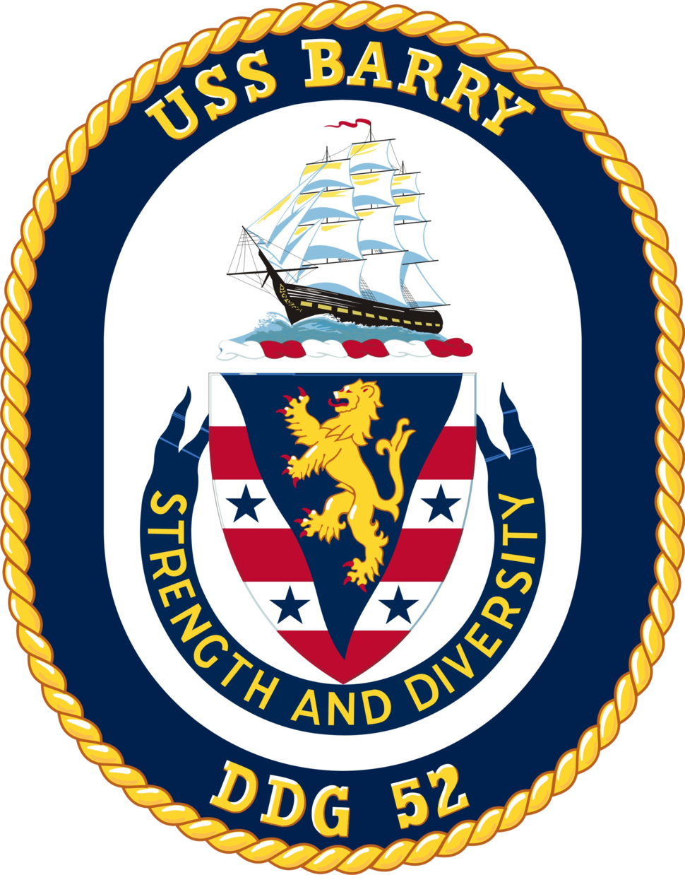 USS Barry DDG-52 Crest