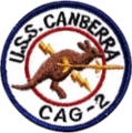 USS Canberra (CAG-2) jacket patch, 1958 (NH 69548-KN).png