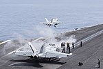 USS Harry S. Truman conducts flight operations. (27411555080).jpg