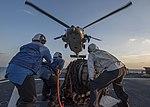 USS Mahan conducts a replenishment-at-sea. (32216461852).jpg