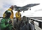 USS Nimitz conducts flight operations. (30391750555).jpg