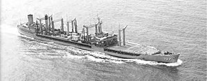 "USS Passumpsic (AO-107) - USS Passumpsic after completion of ""jumboization""."