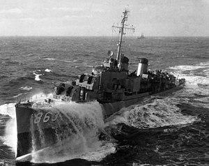 USS Steinaker - Image: USS Steinaker (DD 863) in the North Atlantic 1951