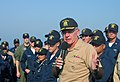 US Navy 041011-N-7798M-055 Chief of Naval Operations (CNO), Adm. Vern Clark, speaks to Sailors aboard the guided missile destroyer USS Preble (DDG 88) during his tour of the Middle East region.jpg