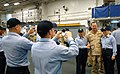 US Navy 061221-N-9689V-002 Chief of Naval Operations (CNO) Adm. Mike Mullen meets with Sailors aboard the amphibious assault ship USS Boxer (LHD 4) while visiting ships in the region over the holidays.jpg