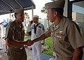 US Navy 081009-N-2821G-009 Vice Adm. David J. Dorsett greets Rear Adm. Joseph D. Kernan.jpg