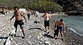 US Navy 081207-N-9769P-168 njured service members participate in a beach cleanup at Blue Beach in Guantanamo Bay during their dive certification trip as part of the Soldiers Undertaking Disabled Scuba (SUDS) program.jpg