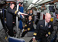 US Navy 090112-N-7705S-061 Lt. Cmdr Brad Terry, left, executive officer of the Los-Angeles class attack submarine USS Boise (SSN 764), explains control room operations to Republic of Korea Navy Chief of Naval Operations Adm. Ju.jpg
