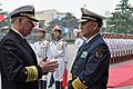 US Navy 090418-N-8273J-020 Chief of Naval Operations (CNO) Adm. Gary Roughead speaks with Adm. Wu Shengli, Commander-in-Chief of the People's Liberation Army Navy.jpg