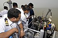 US Navy 100317-N-8335D-125 Bangladesh navy sailors observe minesweeping operations aboard the mine-counter measures ship USS Patriot (MCM 7).jpg