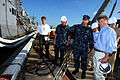 US Navy 100409-N-1522S-001 U.S. Congressmen Gene Taylor tours the guided-missile frigate USS Doyle (FFG 39).jpg