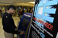 US Navy 100412-N-2541H-001 Senior Chief Cryptologic Technician Samantha Blackwall uses the Navy OneStop kiosk at Naval Medical Center Portsmouth to provide feedback about her visit.jpg