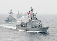 US Navy 100619-N-9301W-348 Chilean navy ships move into formation with the guided-missile frigate USS Klakring (FFG 42) off the coast of Iquique, Chile.jpg