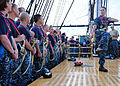 US Navy 110825-N-AU127-171 Yeoman 1st Class Chrishinda Dobbs, assigned to USS Constitution, trains chief selects to climb aloft.jpg