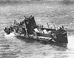 US Navy LCI(L) sinking off Normandy in June 1944.jpg