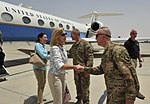US Under Secretary of Defense Christine Wormuth visits to TAAC-S to discuss Resolute Support progress 150701-N-SQ656-187.jpg