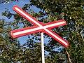 U Stavoservisu, výstražný kříž (01).jpg
