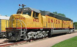 La EMD DDA40X Union Pacific 6922 à Cody Park, North Platte, Nebraska.
