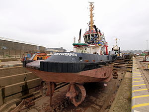 Union Grizzly in dry-dock of Antwerp pic2.JPG