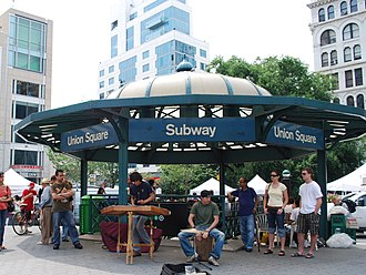 14th Street–Union Square (New York City Subway) - Station entrance within Union Square Park