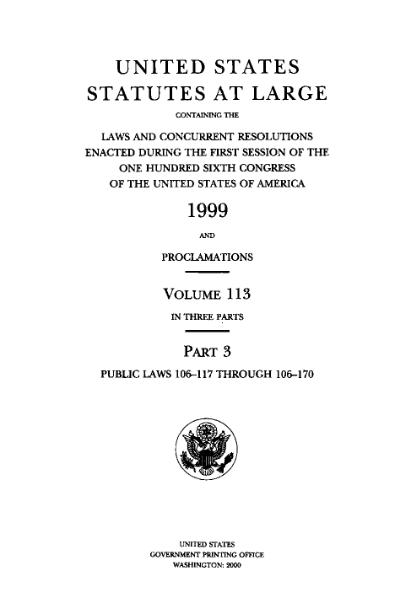 File:United States Statutes at Large Volume 113 Part 3.djvu