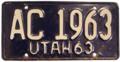 Utah 1963 License Plate.png