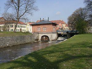 Svartån - The Turbine House in Västerås, near the mouth of Svartån