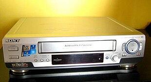 Un modello di videoregistratore della Sony
