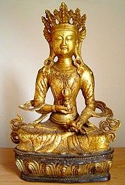 Vajrasattva Buddha, Tibet. La mano destra regge un vajra, un oggetto rituale che nel Buddhismo Vajray?na rappresenta i