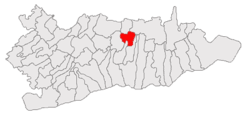 Location of Vâlcelele, Călărași