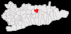 Vị trí của Vâlcelele