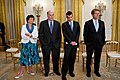 Valerie Jarrett, Bill Daley, David Plouffe and Jay Carney, 2011.jpg