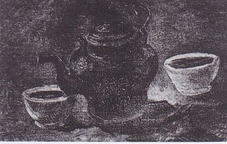 Still Life with Copper Coffeepot and Two White Bowls